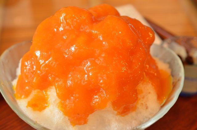 あんず氷で暑気払い 京都の小さなあんみつ屋