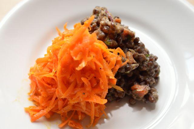 野菜がもりもり食べられるヴィネグレット・ソース/キャロット・ラぺ&レンズ豆のサラダ